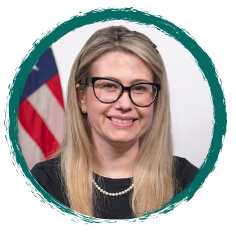 Gabrielle Perret Director of the Federal Robotic Process Automation (RPA) Community of Practice GSA